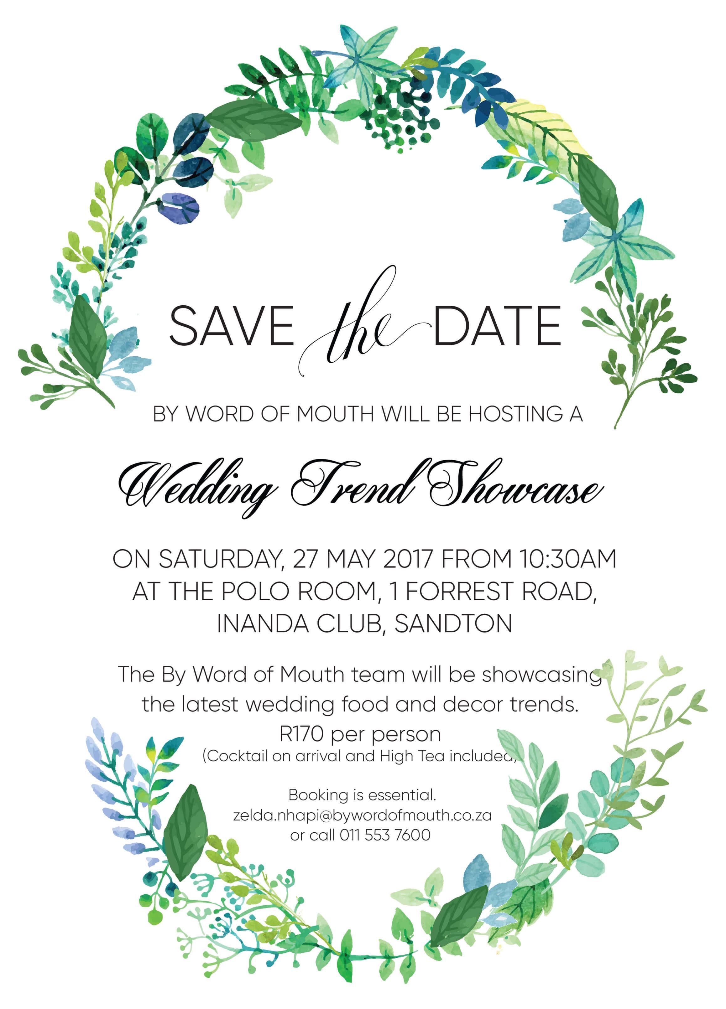 Wedding Showcase Save the Date