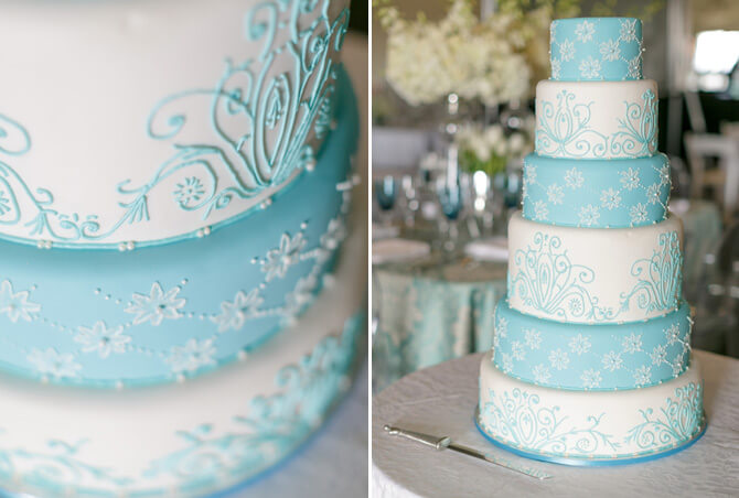 Wedding cakes. Blue & White theme - By Word Of Mouth