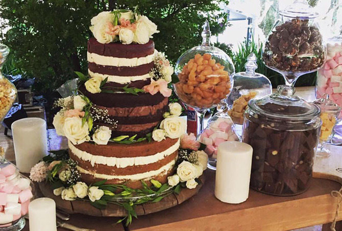 Chocolate tiered wedding cake - By Word Of Mouth